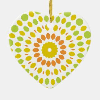 Citrus Mandala Ceramic Ornament