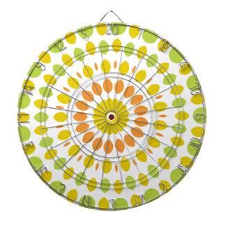 Citrus Mandala Dartboard