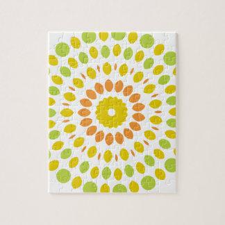 Citrus Mandala Jigsaw Puzzle