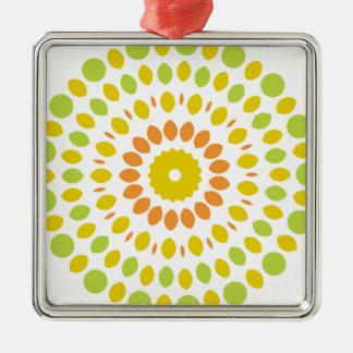 Citrus Mandala Metal Ornament