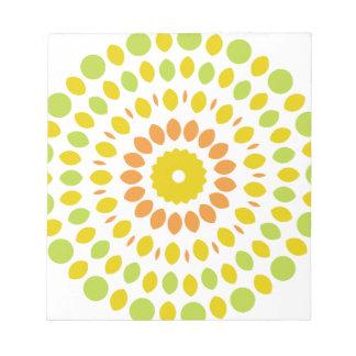 Citrus Mandala Notepad