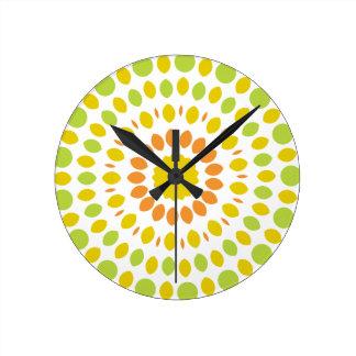 Citrus Mandala Round Clock