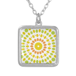 Citrus Mandala Silver Plated Necklace