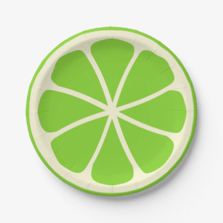 Citrus Party Lime 7 Inch Paper Plate
