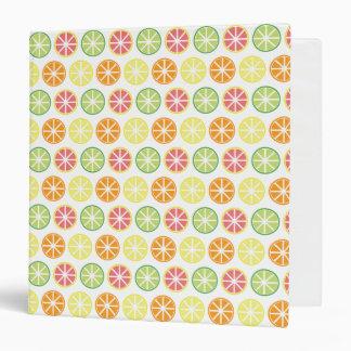 Citrus Pattern 3-Ring Binder
