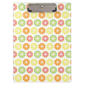 Citrus Pattern Clipboard