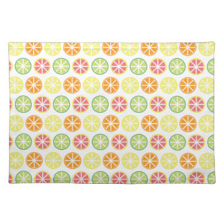 Citrus Pattern Cloth Placemat
