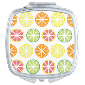 Citrus Pattern Compact Mirror