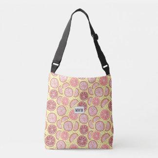 Citrus Pattern custom monogram bags