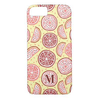 Citrus Pattern custom monogram phone cases