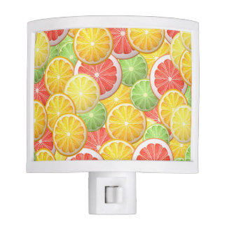 Citrus pattern - grapefruit, lemon, lime, orange night lite