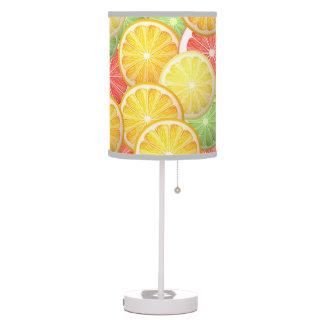 Citrus pattern - grapefruit, lemon, lime, orange table lamps
