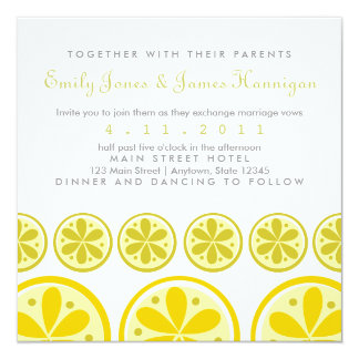 Citrus Pattern Invitation