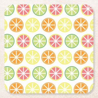 Citrus Pattern Paper Coasters