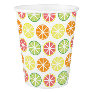 Citrus Pattern Paper Cups