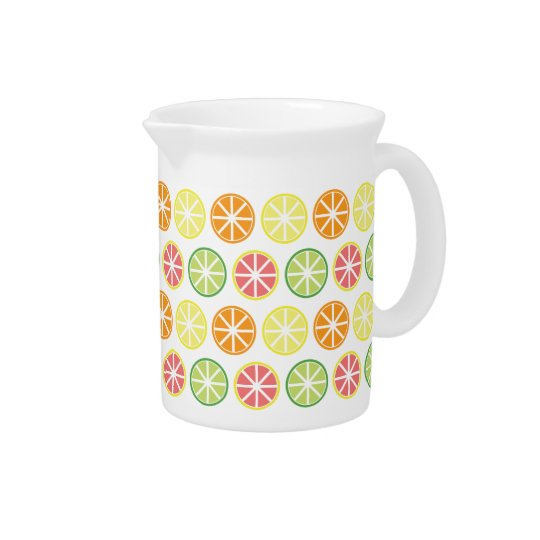 Citrus Pattern Pitcher