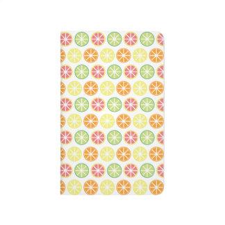 Citrus Pattern Pocket Journal