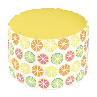 Citrus Pattern Pouf