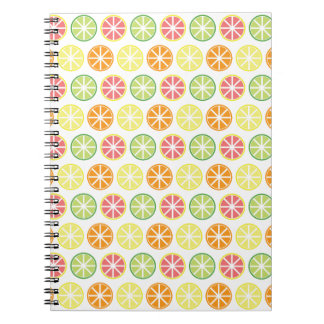 Citrus Pattern Spiral Notebook
