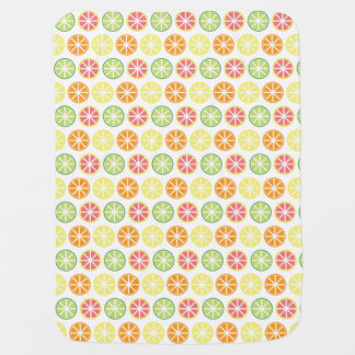 Citrus Print Baby Blanket