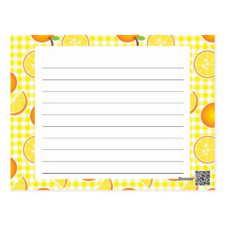 Citrus Recipe Card