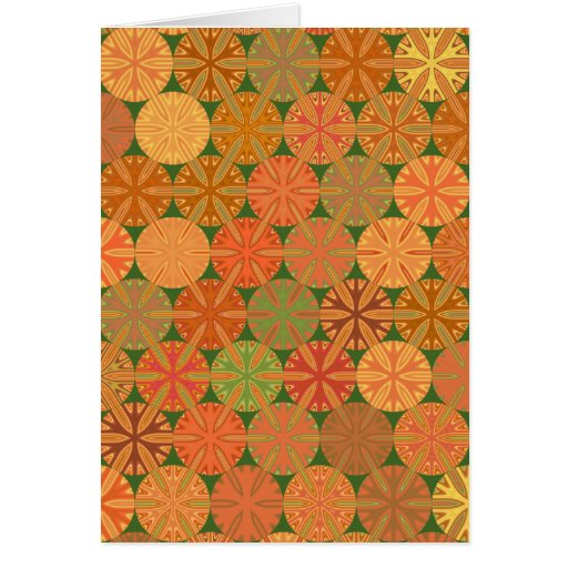 Citrus Slices Geometric on Green Note Card