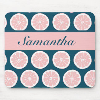 Citrus Slices with Personalized Nameplate Mouse Pad