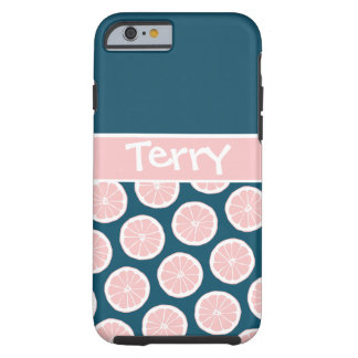 Citrus Slices with Personalized Nameplate Tough iPhone 6 Case
