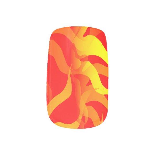 Citrus Wings Wrap Nail Art
