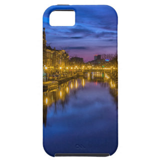 city-114290 city night waterway channel night sky iPhone 5 case