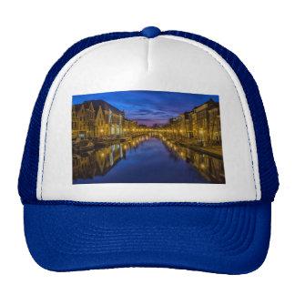 city-114290 city night waterway channel night sky trucker hat