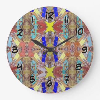 City Abstract Design Large Clock