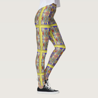 City Abstract Design Leggings