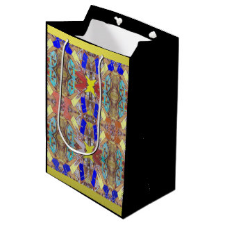 City Abstract Design Medium Gift Bag