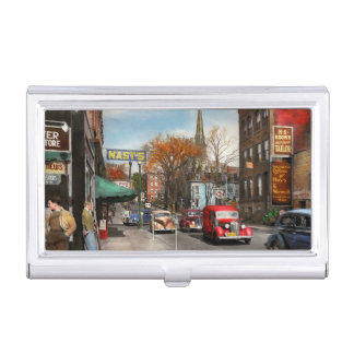 City - Amsterdam NY - Downtown Amsterdam 1941 Business Card Holder