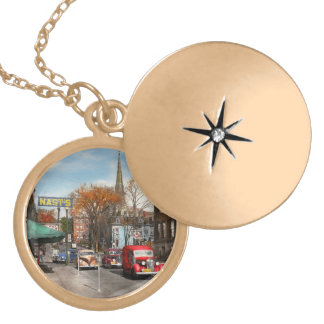 City - Amsterdam NY - Downtown Amsterdam 1941 Gold Plated Necklace