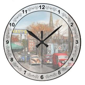 City - Amsterdam NY - Downtown Amsterdam 1941 Large Clock