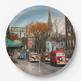 City - Amsterdam NY - Downtown Amsterdam 1941 Paper Plate