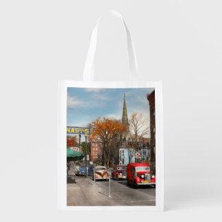 City - Amsterdam NY - Downtown Amsterdam 1941 Reusable Grocery Bag