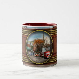 City - Amsterdam NY - Downtown Amsterdam 1941 Two-Tone Coffee Mug
