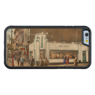 City - Amsterdam NY - Hamburgers 5 cents 1941 Carved Maple iPhone 6 Bumper Case
