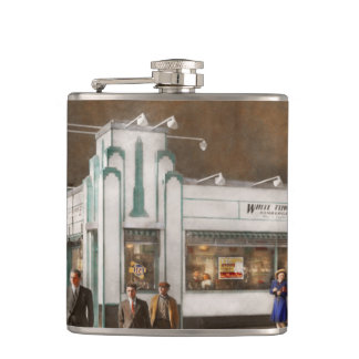 City - Amsterdam NY - Hamburgers 5 cents 1941 Hip Flask