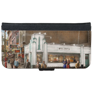 City - Amsterdam NY - Hamburgers 5 cents 1941 iPhone 6 Wallet Case