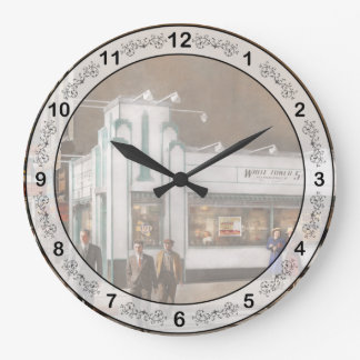 City - Amsterdam NY - Hamburgers 5 cents 1941 Large Clock