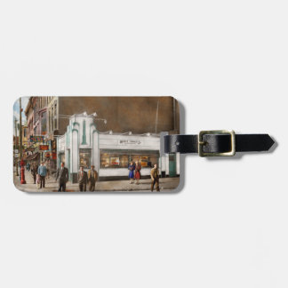 City - Amsterdam NY - Hamburgers 5 cents 1941 Luggage Tag