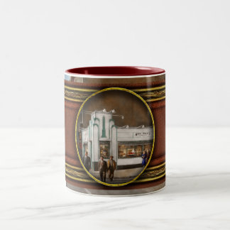 City - Amsterdam NY - Hamburgers 5 cents 1941 Two-Tone Coffee Mug