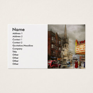 City - Amsterdam NY - Life begins 1941 Business Card
