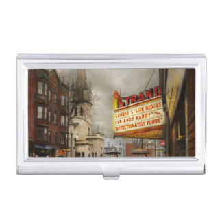 City - Amsterdam NY - Life begins 1941 Business Card Holder