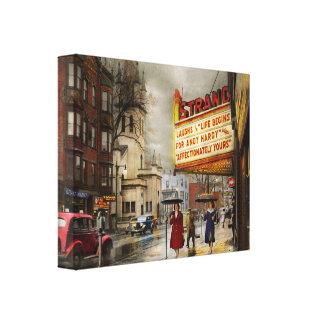 City - Amsterdam NY - Life begins 1941 Canvas Print