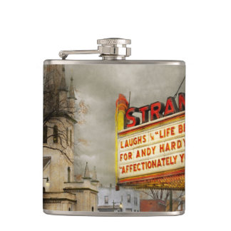 City - Amsterdam NY - Life begins 1941 Hip Flask